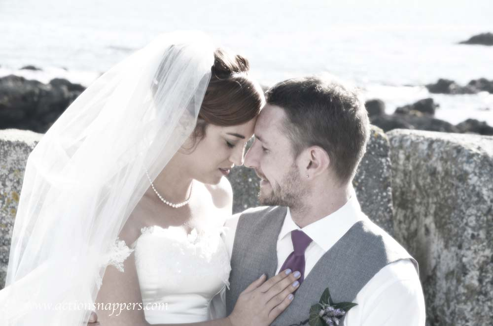 wedding photo at Plimmerton beach by actionsnappers wedding photographer