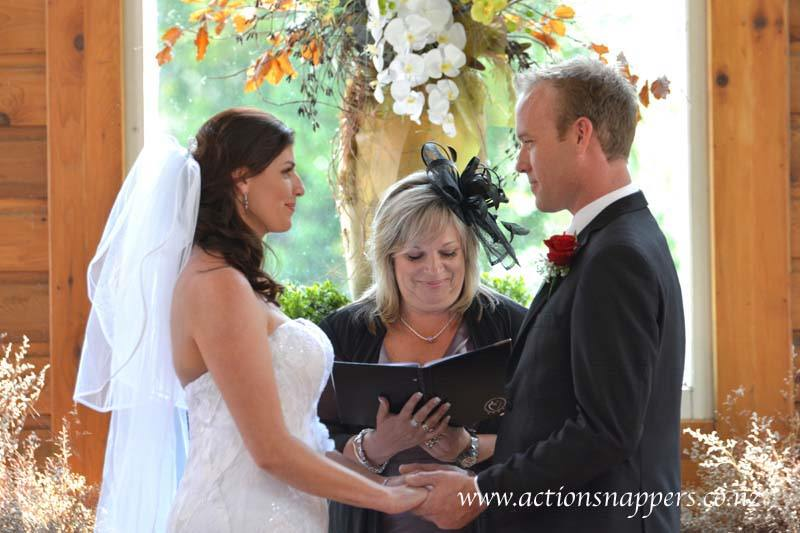 wedding photo of bride and groom at Gails of Tamahere