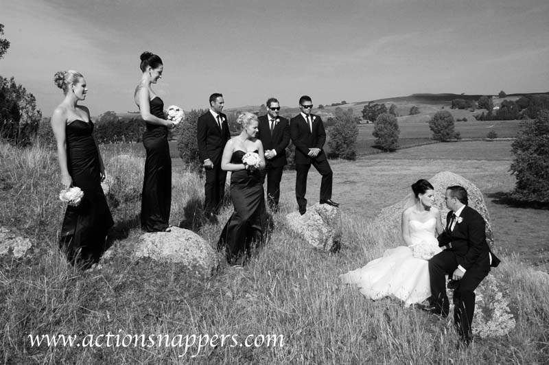 wedding photo of bridal party at Red Bard